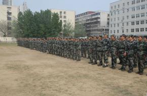 河南省工业学校2018级春季新生军训表彰总结大会